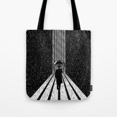 Winter's Long Road Tote Bag