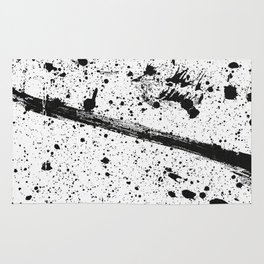 Whoops, Ink on white! Rug