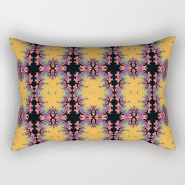 Grid Synapse, yellow and black Rectangular Pillow