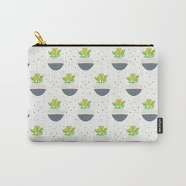 Potted Kalanchoe Plant Mom Pattern Carry-All Pouch