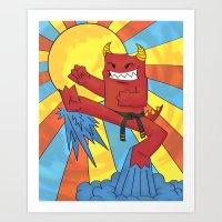 Dojo Monster! Art Print