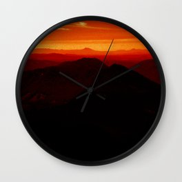 Red Horizon, Fire in the Distance. Wall Clock