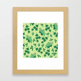 Seamless background from bunches of grapes Framed Art Print