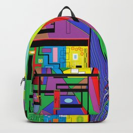 Geometry Abstract Backpack
