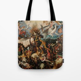 Pieter Bruegel the Elder The Fall of the Rebel Angels Tote Bag