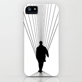 SHOCKWAVE LIAM GALLAGHER WHITE iPhone Case