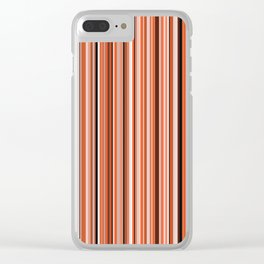 Old Skool Stripes - Sunset Clear iPhone Case