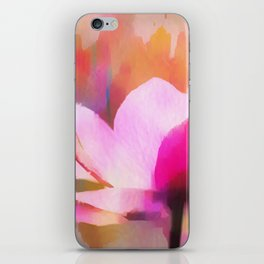Anemone abstract hand painted iPhone Skin