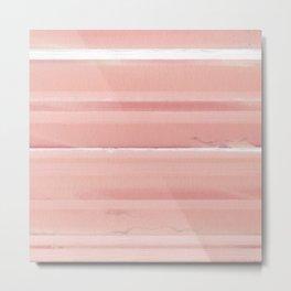 Peach Ombre Striped Wall Pattern Metal Print