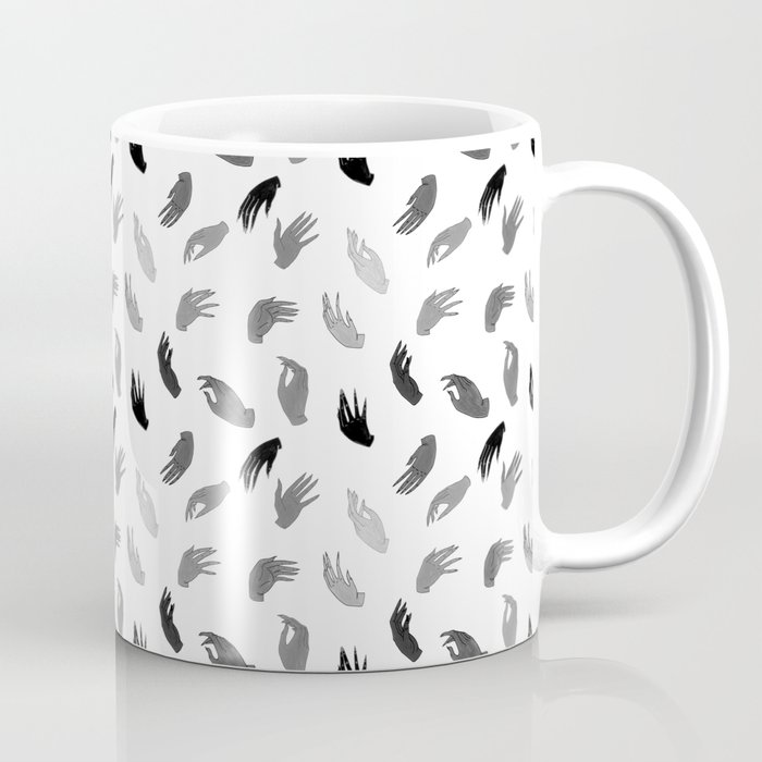 Hands B&W Coffee Mug