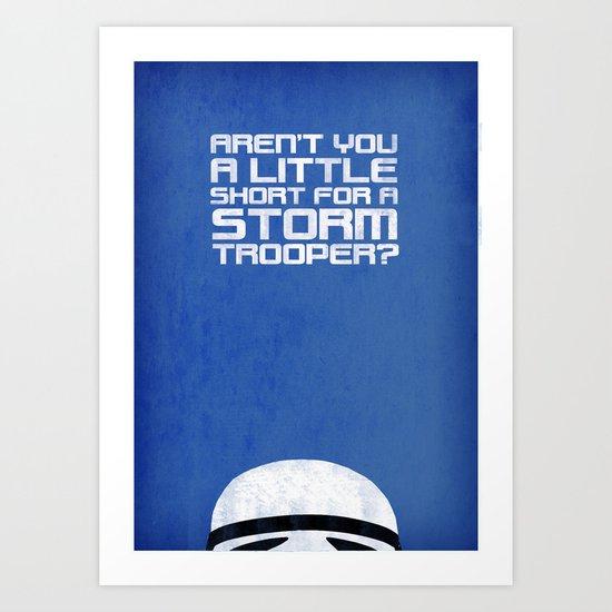 Tiny Trooper Art Print