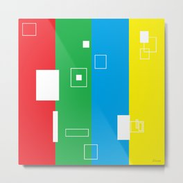Simple Color Primary Colors Metal Print