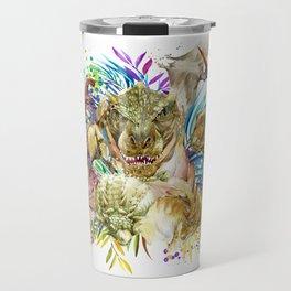 Dinosaur Collage Travel Mug