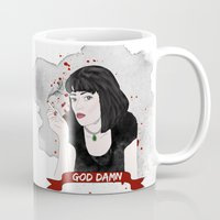 mia wallace Mugs featuring Pulp Fiction's Mia Wallace by raeuberstochter