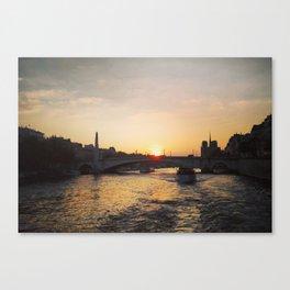 Paris boat view Canvas Print