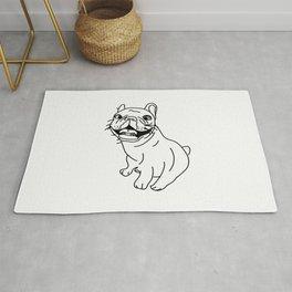 Frenchie Dog (b/w) Rug