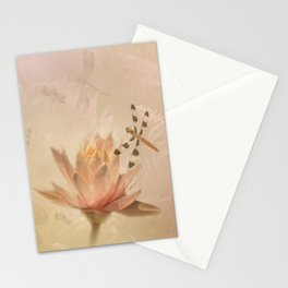 Dragonflies and Water Lily Stationery Cards