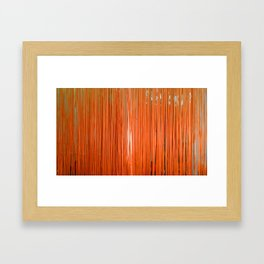 ORANGE STRINGS Framed Art Print