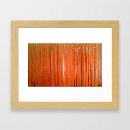 ORANGE STRINGS Framed Art Print