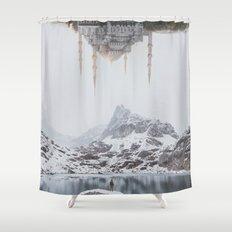 Between Earth & City III Shower Curtain