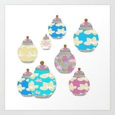 Oriental Jars Art Print