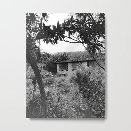 Farm - Black and White Metal Print