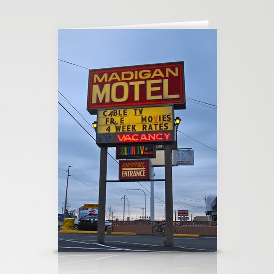 Classic motel sign Stationery Cards