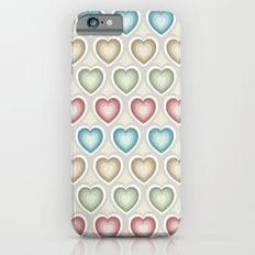 Happy hearts iPhone 6s Slim Case