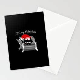 Naughty Cat Merry Christmas Stationery Cards