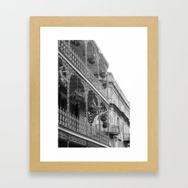 New Orleans Architecture - Black & White Photography Framed Art Print