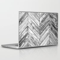 antique Laptop & iPad Skins featuring Antique Wood by Patterns and Textures