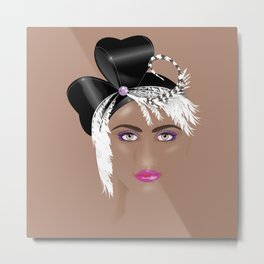 Fascinators: Cloche Metal Print