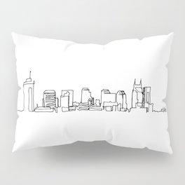 Nashville Skyline Drawing Pillow Sham