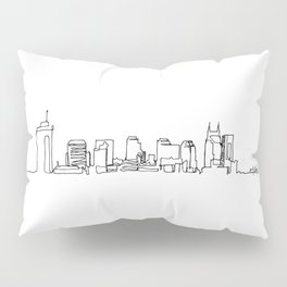Nashville Skyline Drawing Pillow Sham