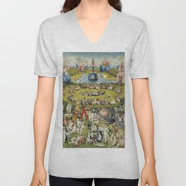 THE GARDEN OF EARTHLY DELIGHT - HEIRONYMUS BOSCH Unisex V-Neck