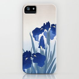 Iris flowers by Ohara Koson iPhone Case