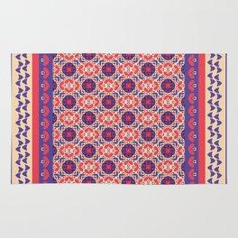 vintage geometric pattern purple and pink Rug
