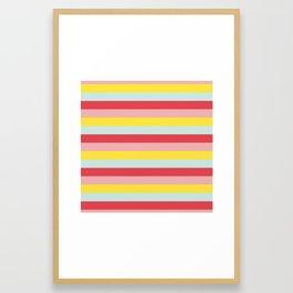 Pastel Stripes Framed Art Print