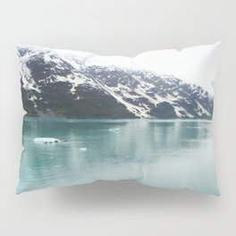 Hubbard Glacier Snowy Mountains Alaska Wilderness Pillow Sham