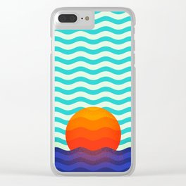 019 OWLY swimming at the sunrise Clear iPhone Case