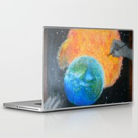 inception Laptop & iPad Skins featuring Painting Inception by Liz Mahoney