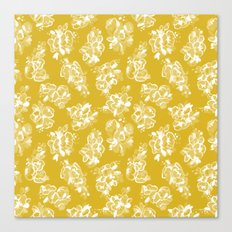 Mustard Floral Canvas Print