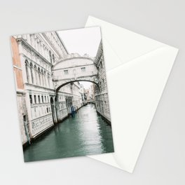 Italy | Venice | Canals |Travel photography | Architecture of Venice | Pastel colored buildings and the canals Stationery Cards