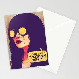 yerevan nights Stationery Cards
