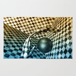 Abstract Handball  Rug
