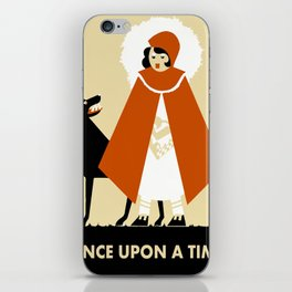 Naive art deco Little Red Riding Hood iPhone Skin