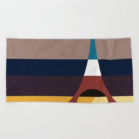 Paris, Eiffel Tower Beach Towel