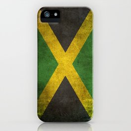 Old and Worn Distressed Vintage Flag of Jamaica iPhone Case