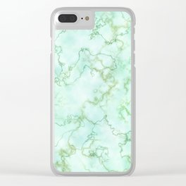 Marble Smaragd Gold Clear iPhone Case
