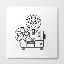 Vintage Movie Film Projector Retro Metal Print